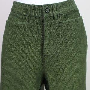 Cappagallo green corduroy pants hi rise